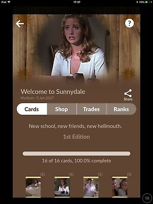 Quidd Digital Cards, Complete 1st Edition, Welcome to Sunnydale,   Buffy
