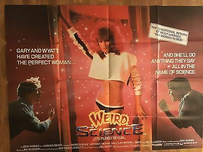 Weird Science Uk Quad Poster -Kelly Lebrock