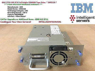 IBM LTO3 LVD SCSI Full Height 23R4684 Tape Drive  * 24R2126 *