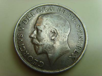 1915 Silver Shilling King George V British Coin Great Britain