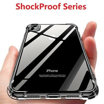Shockproof Clear TPU Silicone Protective Back Case Cover For iPhone 8 6s 7 Plus