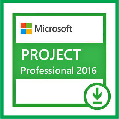 Microsoft Project Professional 2016 Pro Digital License Download Key 1 PC