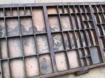 Letterpress Printing New Departure Patented OLD WOODEN TYPECASE Compositors Case