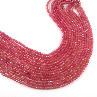 """75.6 Cts 10 Lot Strands Natural Ruby Aventurine Faceted Gemstone Bead 12.5"""" Long"""
