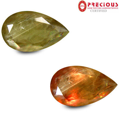 31.47 ct PGTL Certified Valuable Pear (27 x 16 mm) Un-Heated Change Diaspore