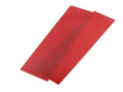 """New Product """"RED G10 LINER .030"""" 1/4""""x 1.5"""" x 6""""  2 Pieces For Spacers or Liners"""