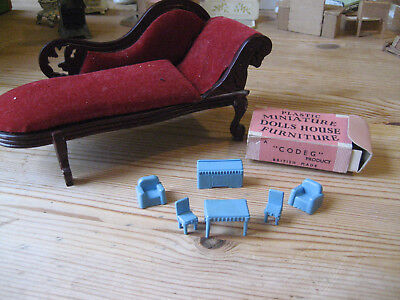 Vintage Set Of Really Tiny Codeg Miniature Furniture In Original Box