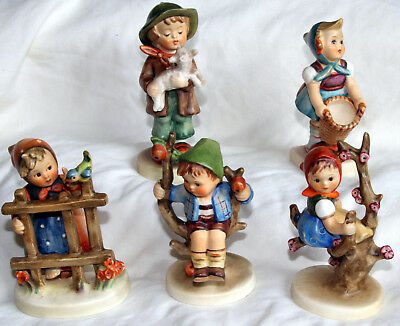 hummel figures 1960's 1970's  5 figures of children