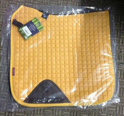 Equestrian Le Mieux Plain D Ring Dressage Square Mustard Small/Med Bnwt