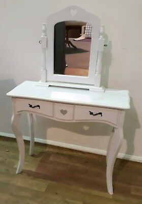 White Dressing Table and Mirror - Reviive Oswestry 128313