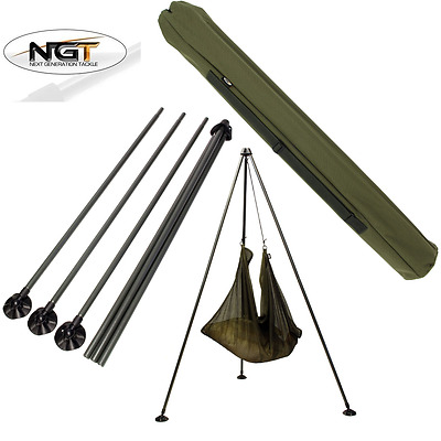 Brand New Ngt Carp Fishing Weigh Tripod System With Large Mud Feet And Carry Bag