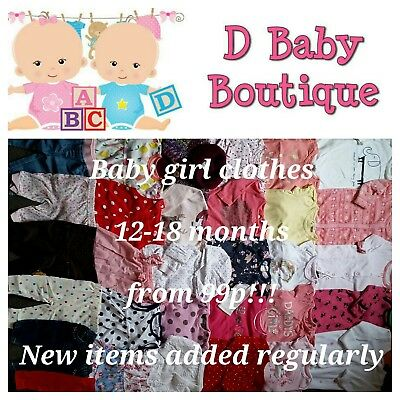 Multi listing baby girl winter/summer clothes 12-18 months.Make your own bundle!