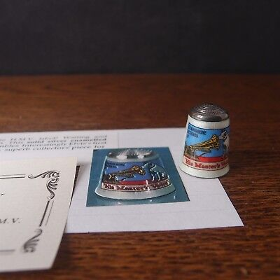 Thimble James Swann Silver Enamel His Masters Voice Advertising Collectors Guild