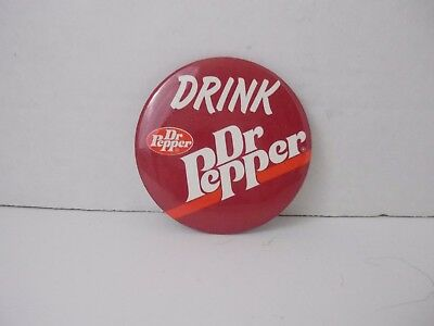 Large Drink Dr. Pepper Button/Pinback Collectible Advertising