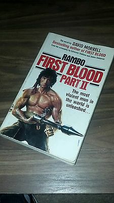 Rambo: First Blood Part II Paperback - David Morrell - Sylvester Stallone - 1985