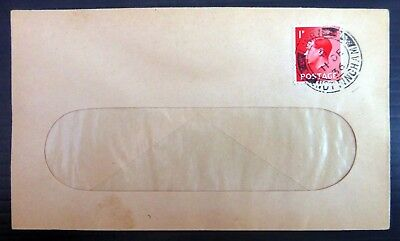 GB 1936 Ed.VIII - 1d on 11th December Cover with Linby CDS AH394