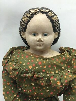 Antique Greiner Doll With Label - 1850's