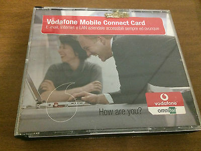 vodafone mobile connect card scheda con cd omnitel
