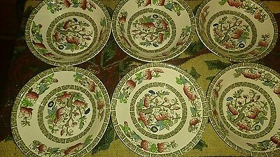 Rare Vintage Johnson Bros Indian Tree Small Bowls X 6