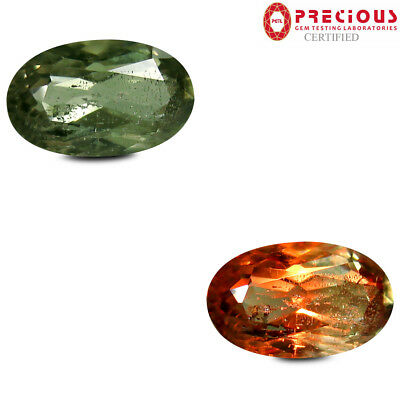 3.40 ct PGTL Certified  Oval Cut (12 x 7 mm) Un-Heated Color Change Diaspore