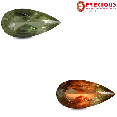 2.86 ct PGTL Certified Fantastic Pear (15 x 7 mm) Un-Heated Change Diaspore