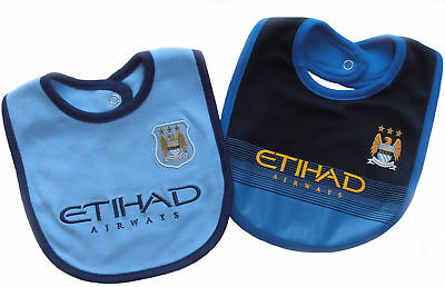 Manchester  City Baby Bib... 2 Pack...Official Club Merchandise