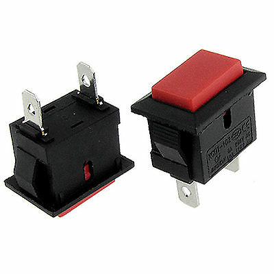 5pcs 2 Pin Red Momentary NO On/Off SPST Push Button Switch 6A/250V 10A/125V AC
