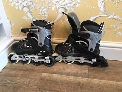 SFR RH-HT childs black inline skates size UK 3.5 worn once
