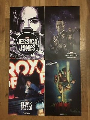 NYCC 2017 Exclusive Marvel Poster Set Bundle- Jessica Jones, Agents Of Shield +
