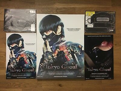 NYCC 2017 Tokyo Ghoul Exclusive Set- 3 Posters, 2 Masks