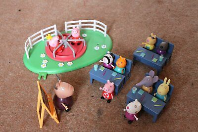 Peppa Pig Madam Gazelles School Playset With Roundabout And Characters