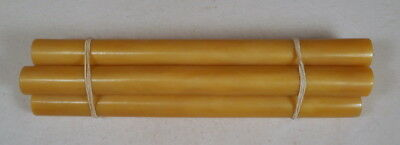 Beautiful rare lot of galalith yellow marbled 4 rods 330 grams