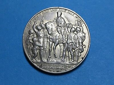1913 Germany Prussia 2 Mark War Liberation Silver Coin