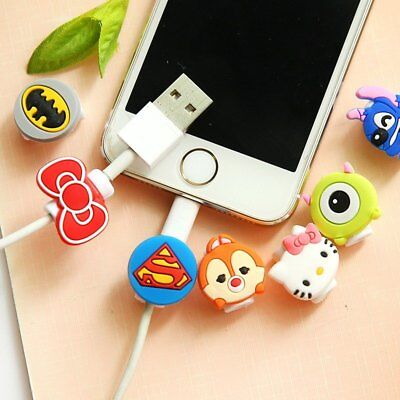 200pcs/lot Cartoon USB Charger Data Cable Cord Protector Charging line saver