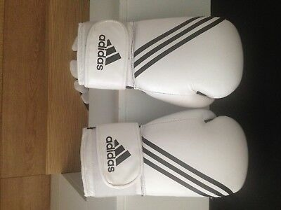 Adult Adidas Boxing Gloves White,used - Very Good Condition