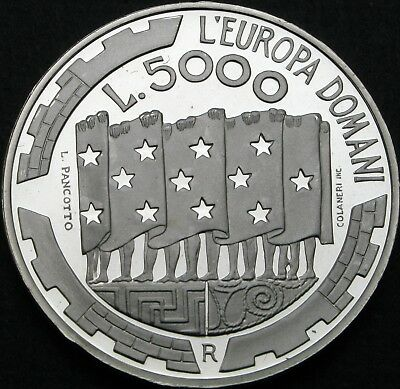 SAN MARINO 5000 Lire 1999R Proof - Silver - Europe Tomorrow - 967 ¤
