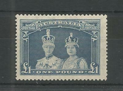 Australia 1938 George 6Th £1.00 Bluish-Slate High Value Sg,178 M/mint Lot Q3