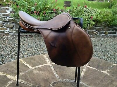 """Stubben Parzival GP Saddle, 17.5"""", width 28, used saddle in excellent condition."""