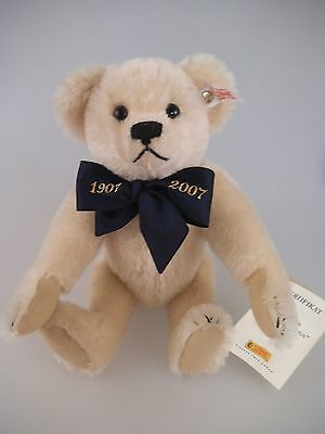 Steiff Teddy 1907 - 2007 A Million Hugs weiß 038792 limitierte Auflage (601a)