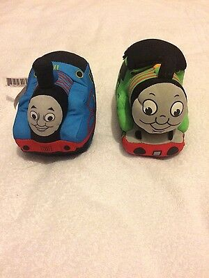 Fisher-Price Mattel Thomas the Tank Engine 1 And green Percy 6 Soft Toy Trains