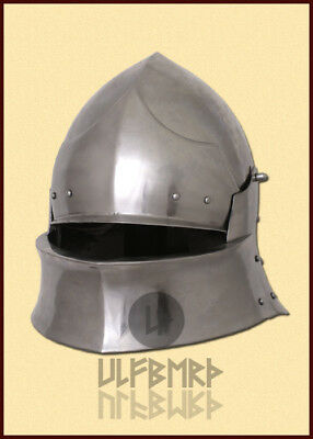 Coventry Sallet medieval helmet 2mm steel 15th knight armour LARP SCA HEMA