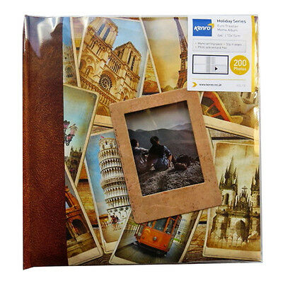 Euro Traveller Photo Album with Memo Space - 200 Photos (6 x 4) - 220mm x 212mm