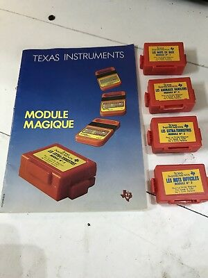 Lot De 4 Modules Pour La Dictee Magique Texas Instruments  Les Extra Terrestres