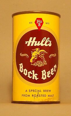 Gorgeous Indoor Hull's Bock Flat Top Beer Can - New Haven, CT - No Reserve!