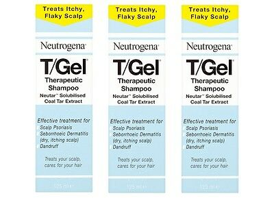 3x Neutrogena T/Gel Therapeutic Shampoo 125ml