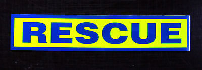 Rescue Reflective / Fluorescent Magnetic Sign