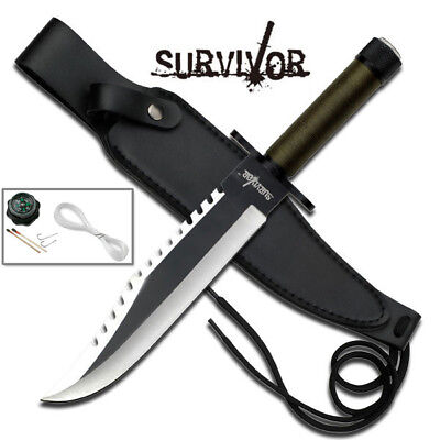 "Master Cutlery 13"" Hunting Knife with Pu Sheath, Includes Survival Kits"