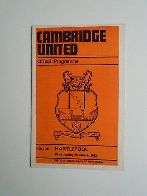 Cambridge United v Hartlepool Division IV 1971/72