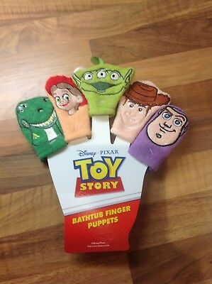 Brand New Disney Toy Story Bathtub Finger Puppets Primark