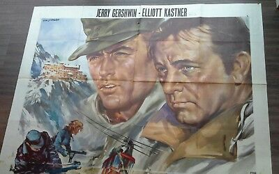 clint eastwood were eagles dare original italian film poster 78 x 55